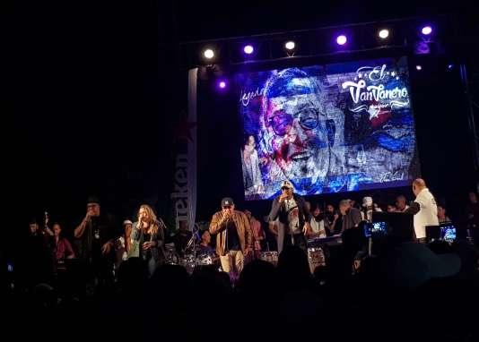 Le groupe cubain Los Van Van au festival Jazz Plaza (La Havane), le 18 janvier 2019.