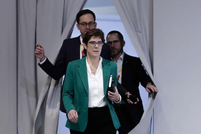 La présidente de l'Union chrétienne-démocrate (CDU) allemande, Annegret Kramp-Karrenbauer, à Hambourg, en décembre 2018.