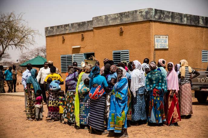 Gorgadji, le 3mars 2019. Depuis le début de l'année, plus de mille déplacés, fuyant les exactions des groupes djihadistes, se sont réfugiés dans cette commune du nord du Burkina Faso.