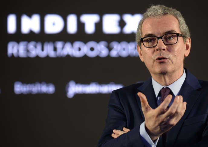 Le PDG d'Inditex (groupe propriétaire de Zara), Pablo Isla, à Arteixo (Galice, nord-ouest de l'Espagne), en mars 2018.