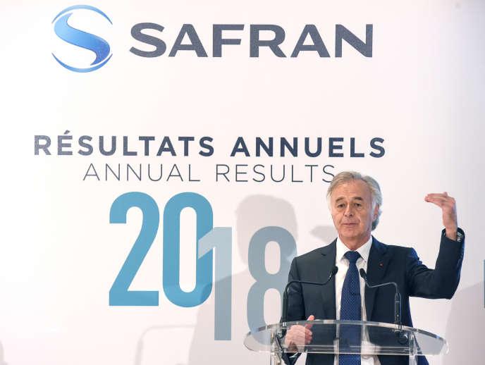 Philippe Petitcolin, directeur général de Safran, à Paris, en février.