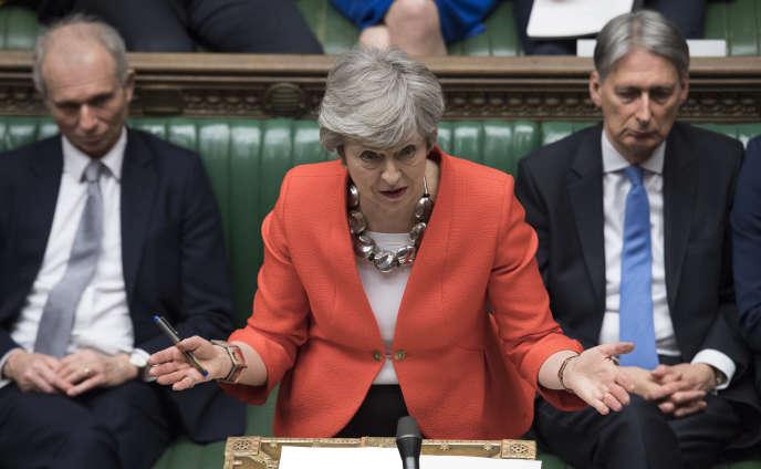 La première ministre britannique, Theresa May, lors du débat à la Chambre des communes, à Londres, le 12 mars.