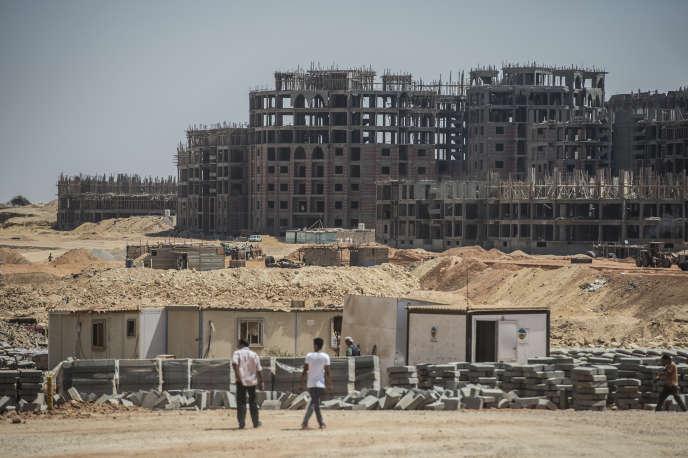 Le chantier de la future capitale égyptienne, située à 40 kilomètres du Caire, en 2017.