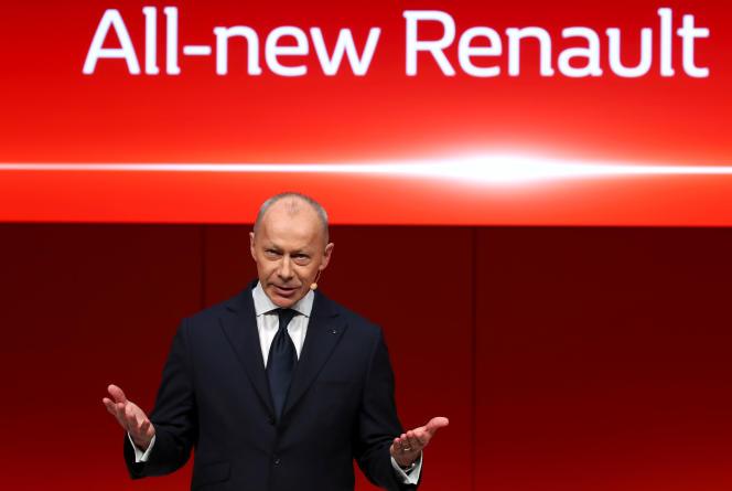 Le directeur général de Renault, Thierry Bolloré, à Genève, le 5 mars.