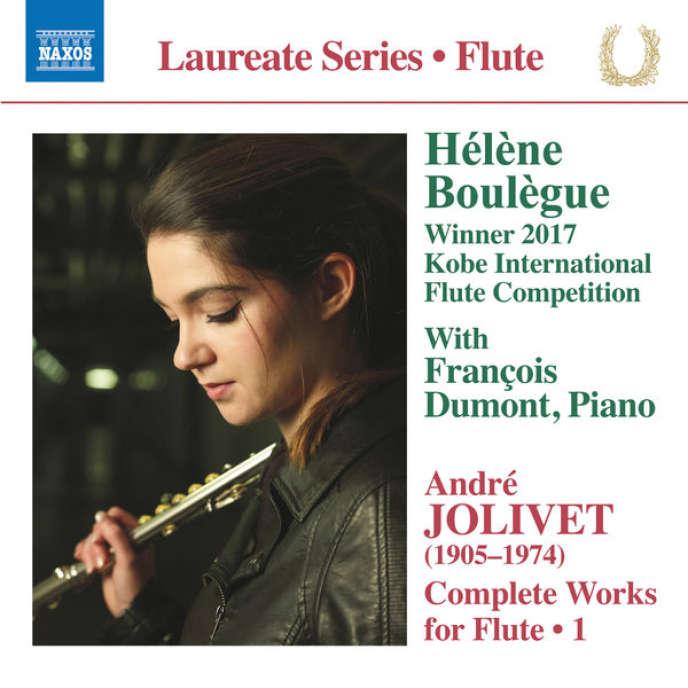 Pochette de l'album«Intégrale de l'œuvre pour flûte (vol.1)», d'André Jolivet.