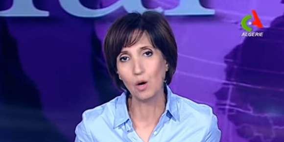 Nadia Massadi, présentatrice du journal télévisé sur la chaîne publique Canal Algérie