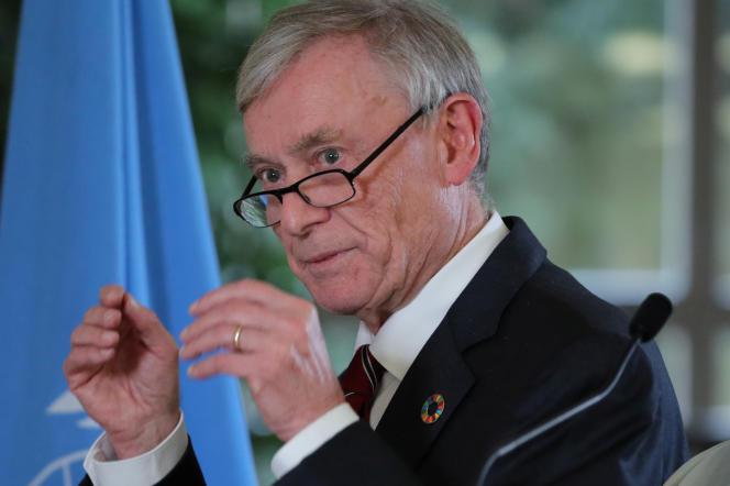 Horst Koehler, l'émissaire des Nations unies pour le Sahara occidental, à Genève, le 6décembre 2018.