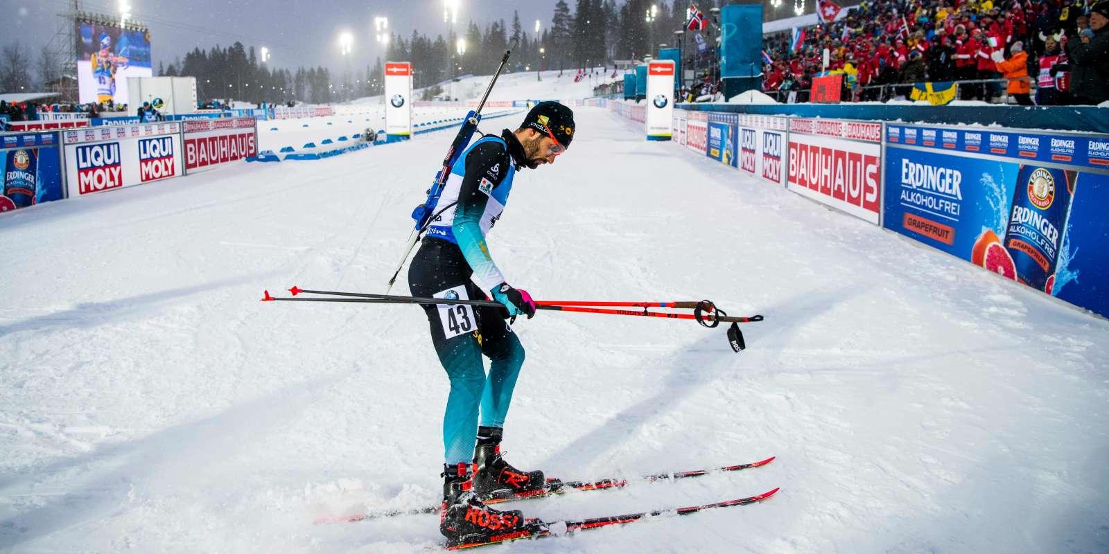 Martin Fourcade et l'équipe de Francemasculine de relais sont en course samedi.