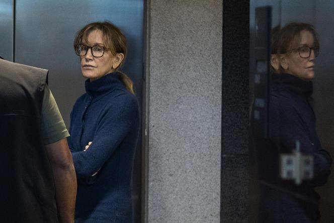 L'actrice Felicity Huffman lors de sa comparution devant la cour fédérale de LosAngeles, le 12 mars.