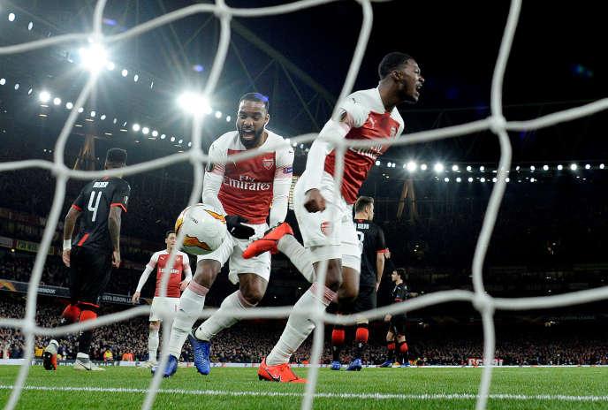 Arsenal a éliminé (2-0) le Stade rennais, jeudi14 mars, en huitièmes de finale retour de Ligue Europa.