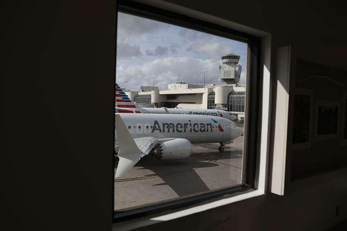 Des Boeing 737MAXcloués au sol sur l'aéroport de Miami(Floride), le 13 mars.