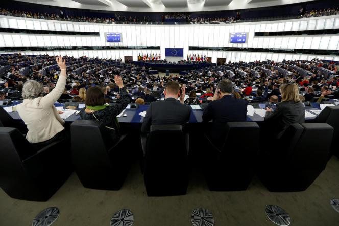 Le Parlement européen de Strasbourg, le 14 mars.
