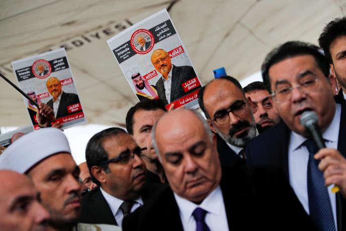 Hommage à Jamal Khashoggi, à Istanbul, le 16 novembre 2018.