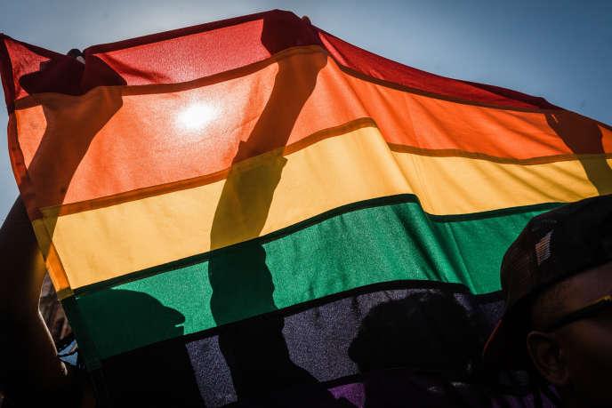 Lors de la Gay Pride de Durban, en Afrique du Sud, le 30juin 2018.