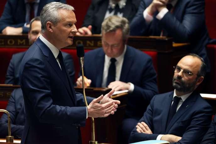 Leministre de l'économieet desfinances, Bruno Le Maire, à l'Assemblée nationale, le 13 mars.