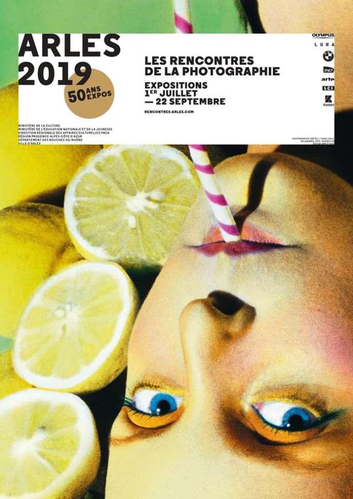 L'affiche de la 50e édition des Rencontres d'Arles.