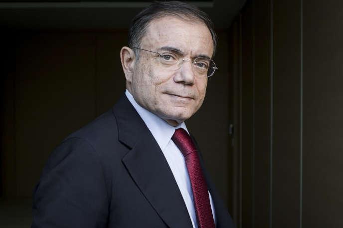 Jean-Charles Naouri, PDG du groupe Casino, au siège du groupe, à Paris, le 21 février.