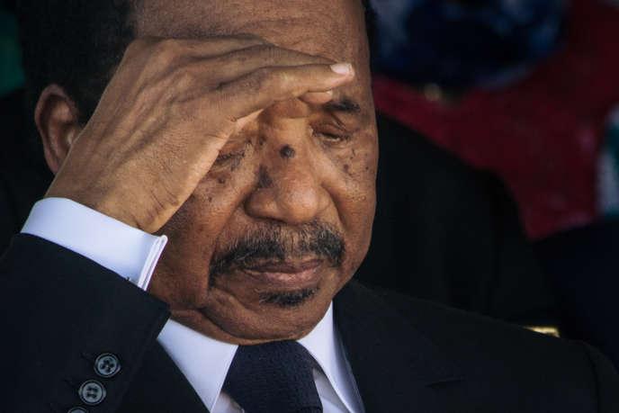 Le président camerounais Paul Biya à Maroua, dans le nord du pays, le 29 septembre 2018.