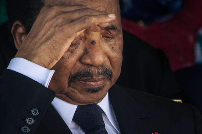 Le président camerounais Paul Biya, à Maroua, dans le nord du pays, le 29 septembre 2018.
