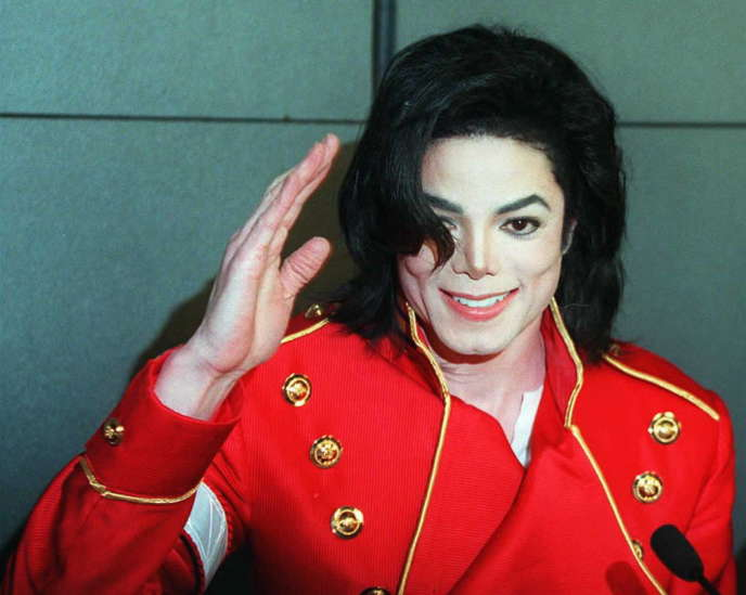 Le chanteur pop Michael Jackson en 1996.