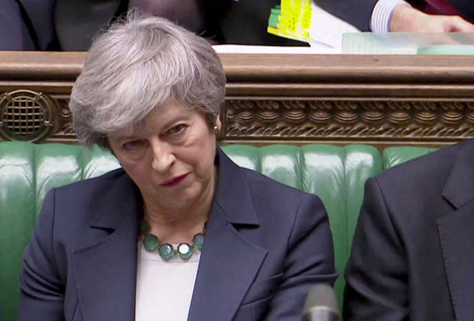 Theresa May, le 13 mars, devant les députés britanniques.