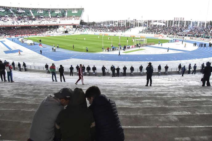 Le stade du 5-Juillet lors de la rencontre entre le MCA et l'USMA, à Alger, le 14mars 2019.