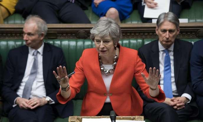 La première ministre britannique, Theresa May, au Parlement, à Londres, le 12 mars.