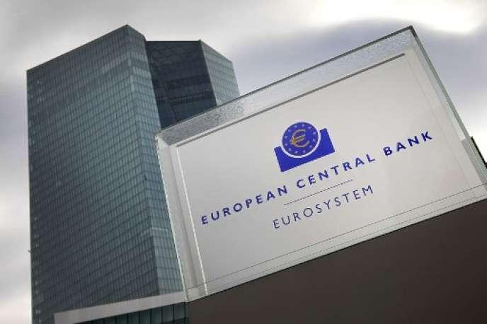 Le siège de la BCE, à Francfort, en octobre 2017.
