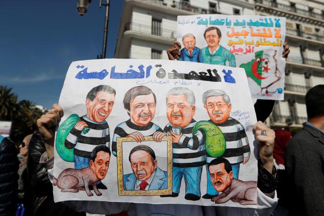 Lors d'une manifestation d'enseignants et d'étudiants à Alger, le 13mars 2019.