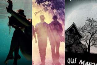 Aperçu des couvertures de« La Dernière marée»,« L'Enchanteur» et« Celle qui marche».