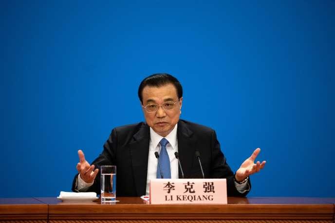 Chinesischer Premier Li Keqiang in Peking Freitag 15 März.