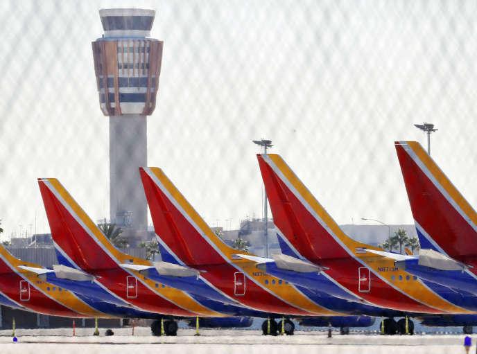 Les Boeing 737 Max sont collés au sol à Phoenix, dans l'Arizona (Etats-Unis).