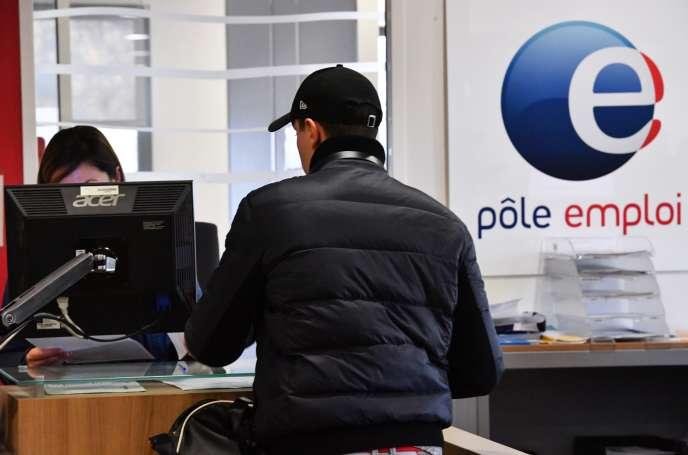 Une agence Pôleemploi, à Montpellier (Hérault), le 3 janvier.