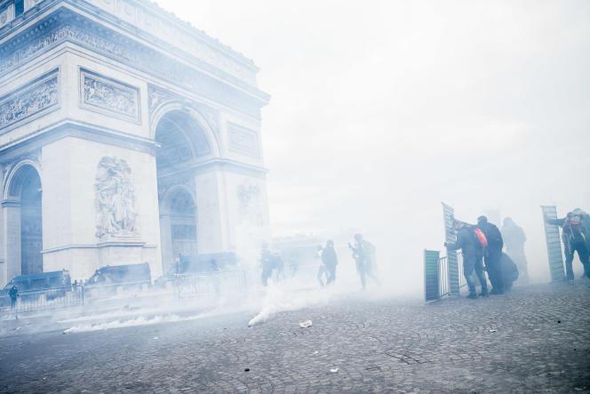 Manifestation de « gilets jaunes» le 16 mars à Paris.