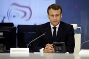 Emmanuel Macron, au ministère de l'intérieur, à Paris, samedi 16 mars.