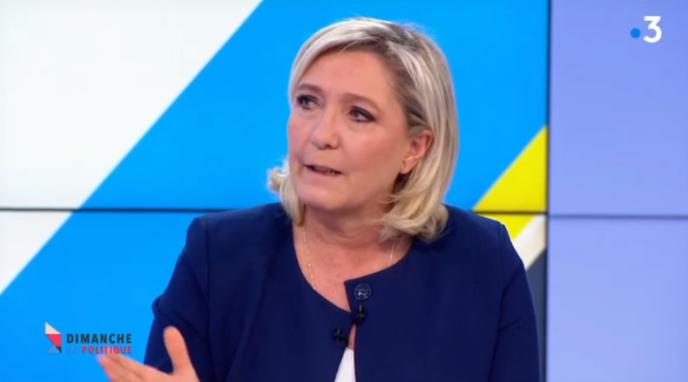 Marine Le Pen, invitée de l'émission «Dimanche en politique»,sur France 3, le 17mars 2019.