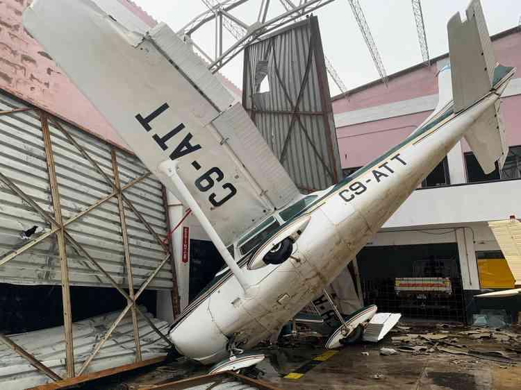 Les dégâts à l'aéroport de Beira, le 18 mars.