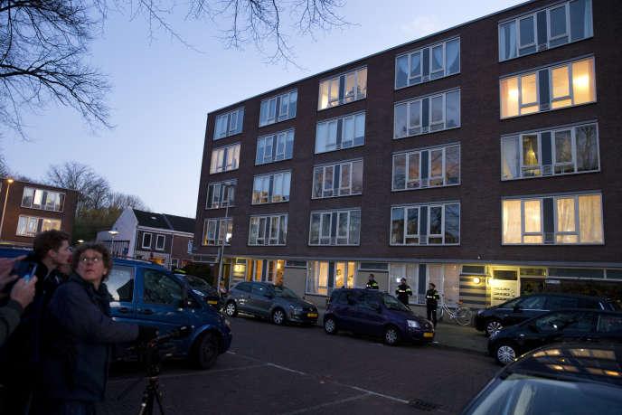 Le bâtiment où le tireur a été arrêté.