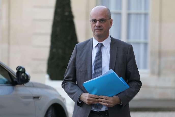 Le ministre de l'éducation, Jean-Michel Blanquer, le 18 mars à l'Elysée.