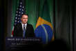 Le président du Brésil, Jair Bolsonaro, le 18 mars, à Washington.