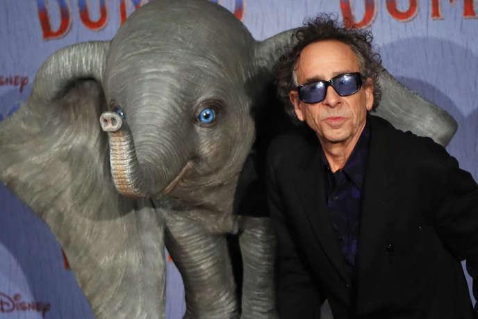 Le réalisateur Tim Burton lors de la première de son film« Dumbo» à Paris, le 18 mars.