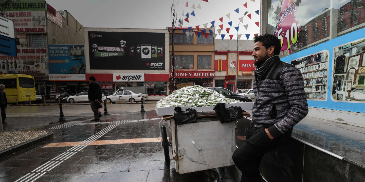 "15-Mar-2019 Turkey – Gaziantep , The Iranian Market  ""Irani Souq""  Where the majority of Syrian refugees, who have Professions had lives in this area, where there are many Syrian shops such as restaurants, clothing stores and groceries shop"
