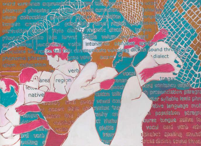 Agnès Thurnauer, «Land and Language #1» (2016), 200 x 280cm (Courtesy de l'artiste et Galerie Valérie Bach Ouvre présentée sur la foire Art Paris Art Fair).