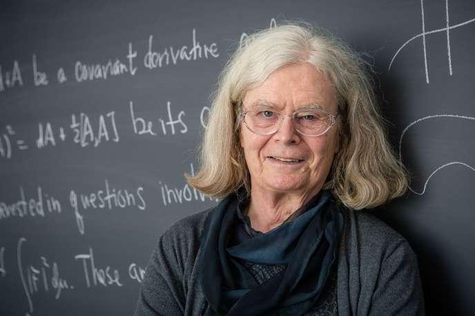 La mathématicienne américaine KarenUhlenbeck, spécialiste des équations aux dérivées partielles, àPrinceton(New Jersey), le 18 mars.