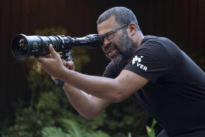 Le cinéaste Jordan Peele sur le tournage de son film« Us».