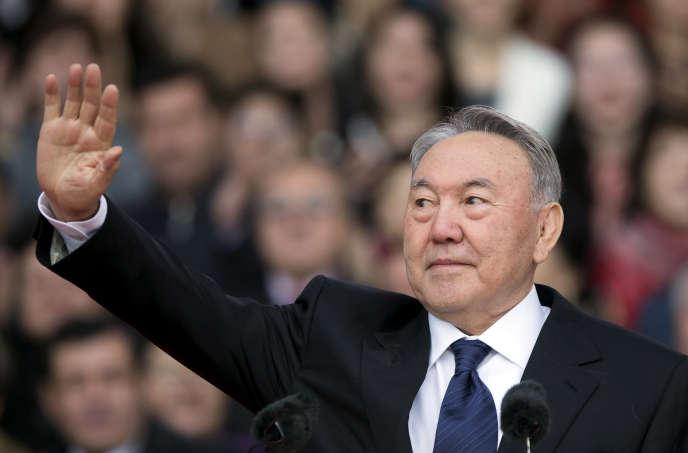 Le président kazakh Noursoultan Nazarbaïev à Almaty (Kazakhstan) en avril 2015.