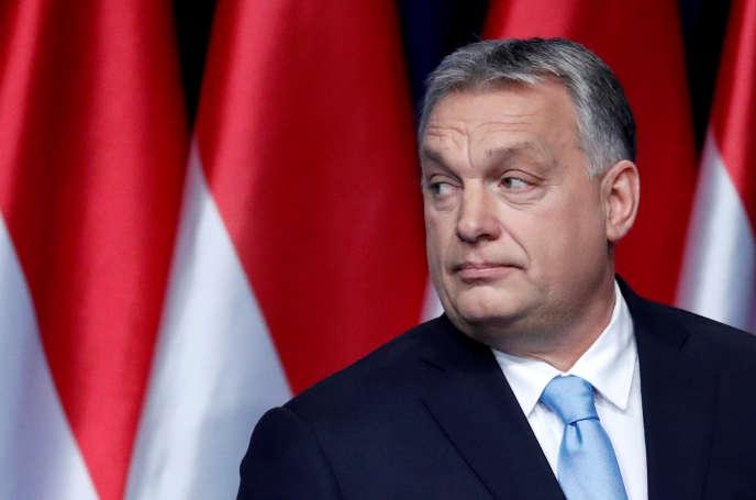 Le premier ministre hongrois Viktor Orban lors de son discours annuel à la nation, à Budapest, le 10 février 2019.