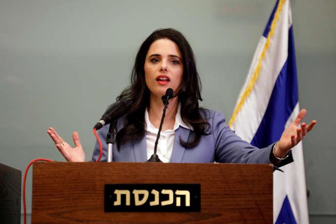 La ministre de lajustice, Ayelet Shaked, le 18 novembre 2018.