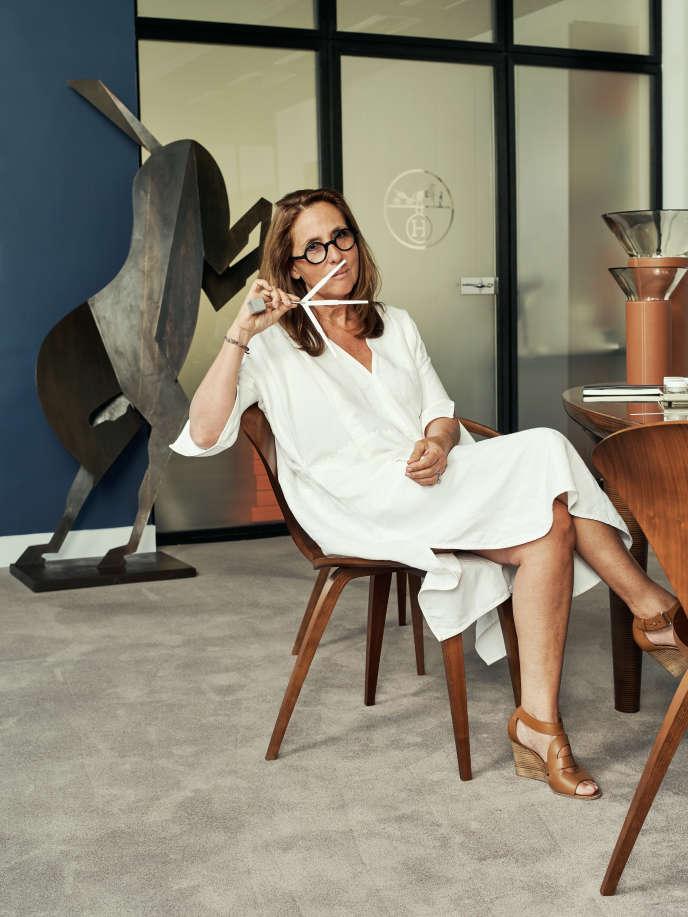 Christine Nagel dans son bureau de Pantin (Seine-Saint-Denis), en juillet 2017.
