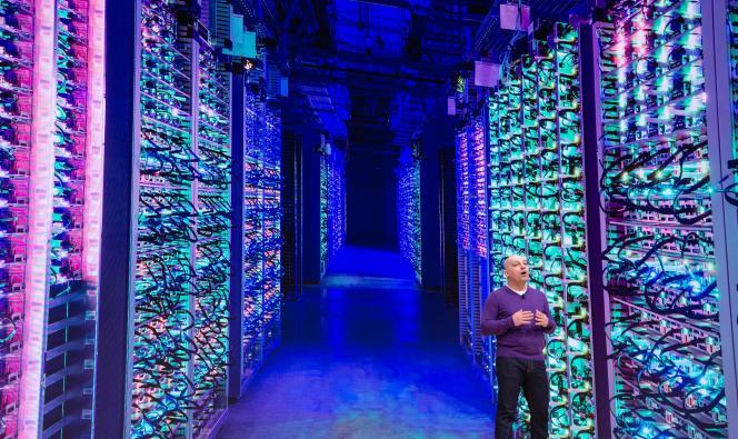 Majd Bakar, directeur de développement de Google, lors de la présentation Stadia, plateforme de jeu sans console, à San Francisco, le 19 mars.